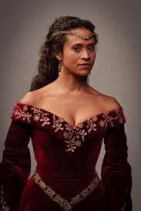 actress Angel Coulby playing Guinevere